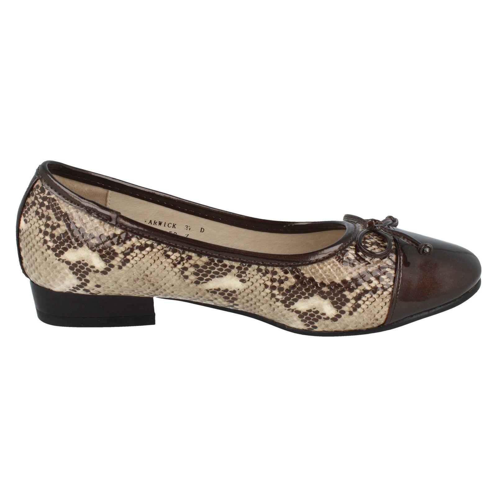 Damen schwarz/Bronze Balletschuhe ohne Bügel Van Dal Balletschuhe schwarz/Bronze Warwick e5ec74