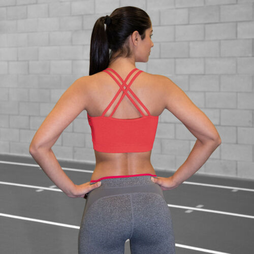 Spiro Fitness Womens Crop Top Tank Vest Sports Bra Yoga Holiday Training S274F