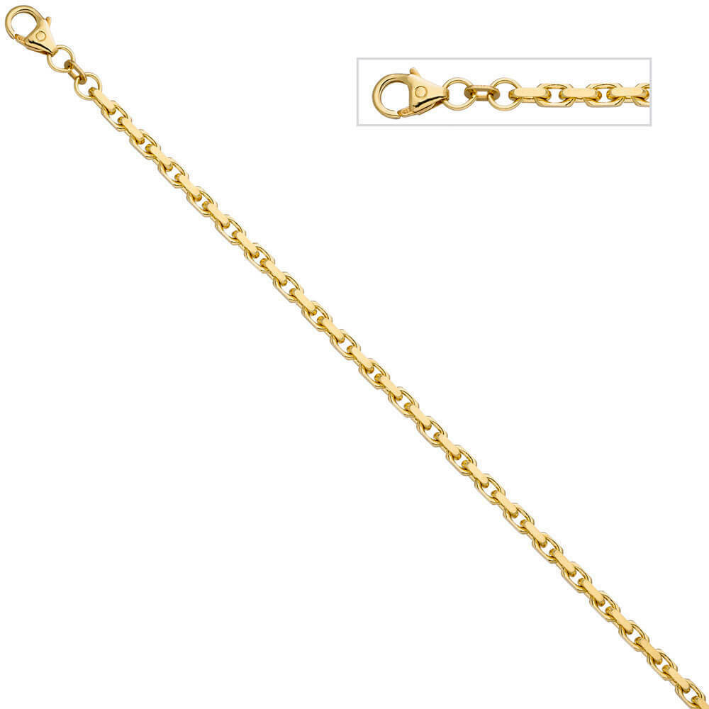 0 1 8in Anchor Bracelet Made of 333 gold Yellow Diamond-Cut 8 9 32In
