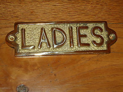 Brass Gents Toilet Sign Hand Casted Door Plaque//Bar//Pub Ladies