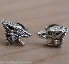 Werewolf Earrings - 925 Sterling Silver Post Earrings - Wolf Halloween *NEW*