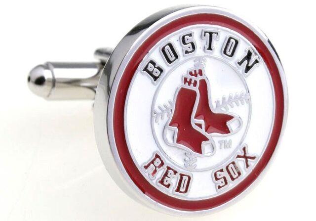 Boston Red Sox Baseball Logo MLB Mens Cufflinks