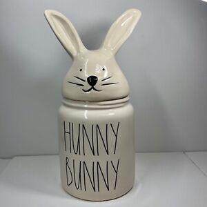 Rae-Dunn-Easter-Spring-LL-034-HUNNY-BUNNY-034-Bunny-Ears-Head-Lid-Canister-Large-NEW