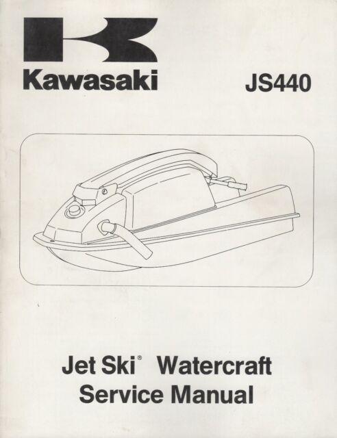 1982-1983 kawasaki jet ski js440 service manual p/n 99963-0054-