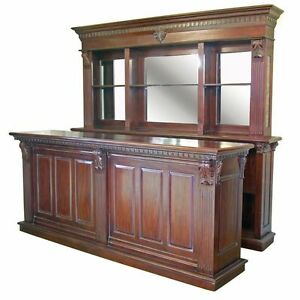Exceptional 2 6m Solid Mahogany Pub Counter Amp Back Bar