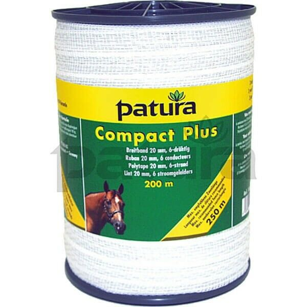 Patura  Compact Plus  Polytape 20mm - 6 Strand Stainless Steel - White 186700  best-selling