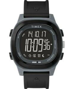 Timex-Ironman-Transit-Digital-Men-039-s-TW5M19000-Black-Rubber-Strap-Watch