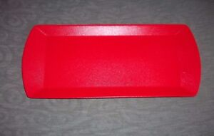 Holiday-Solid-Red-Porcelain-Rectangle-Tray-Platter-Serving-Dish-13-8-x-5-9-NEW
