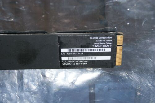 655-1756A Original Apple 128GB SSD MacBook Pro Air Mac Toshiba THNSNS128GMFP