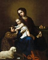8x10 Photo: Virgin Mary With Child Jesus Christ And Young John The Baptist