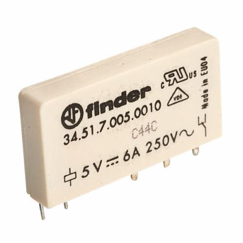 Sélecteur de 34.51.7.005.0010 5 V relais ultrafin inverseurs 6 A 34.51