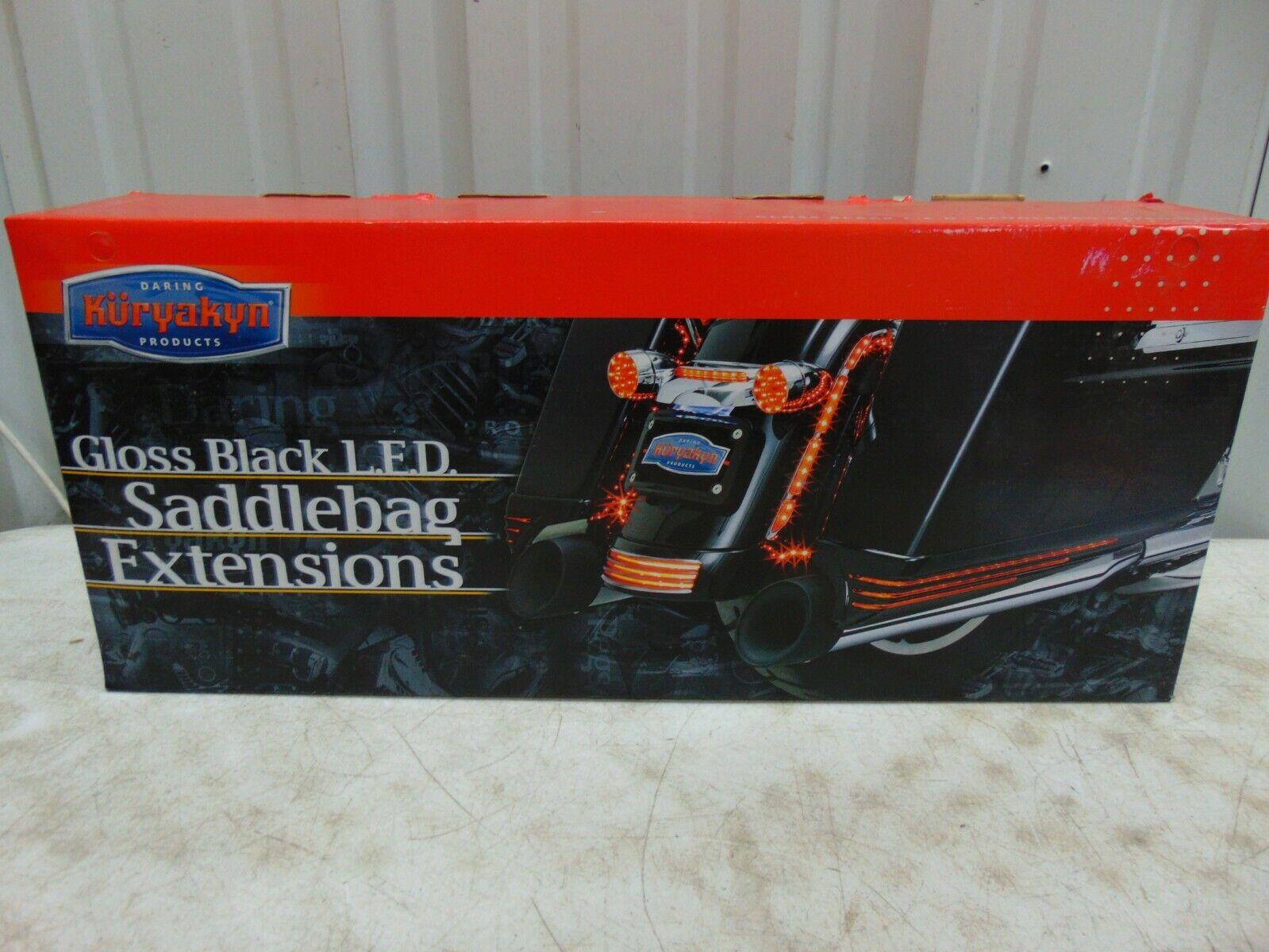 Kuryakyn 7273 Black//Smoke LED Saddlebag Extension