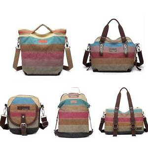 Image Is Loading Women Shoulder Bag Satchel Crossbody Handbag Rainbow Patchwork