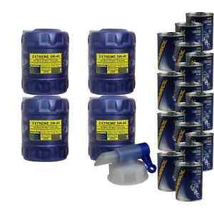 80L-Aceite-de-Motor-Mannol-Extremo-5W-40-16x-Mannol-Motor-Flusch-Aditivo
