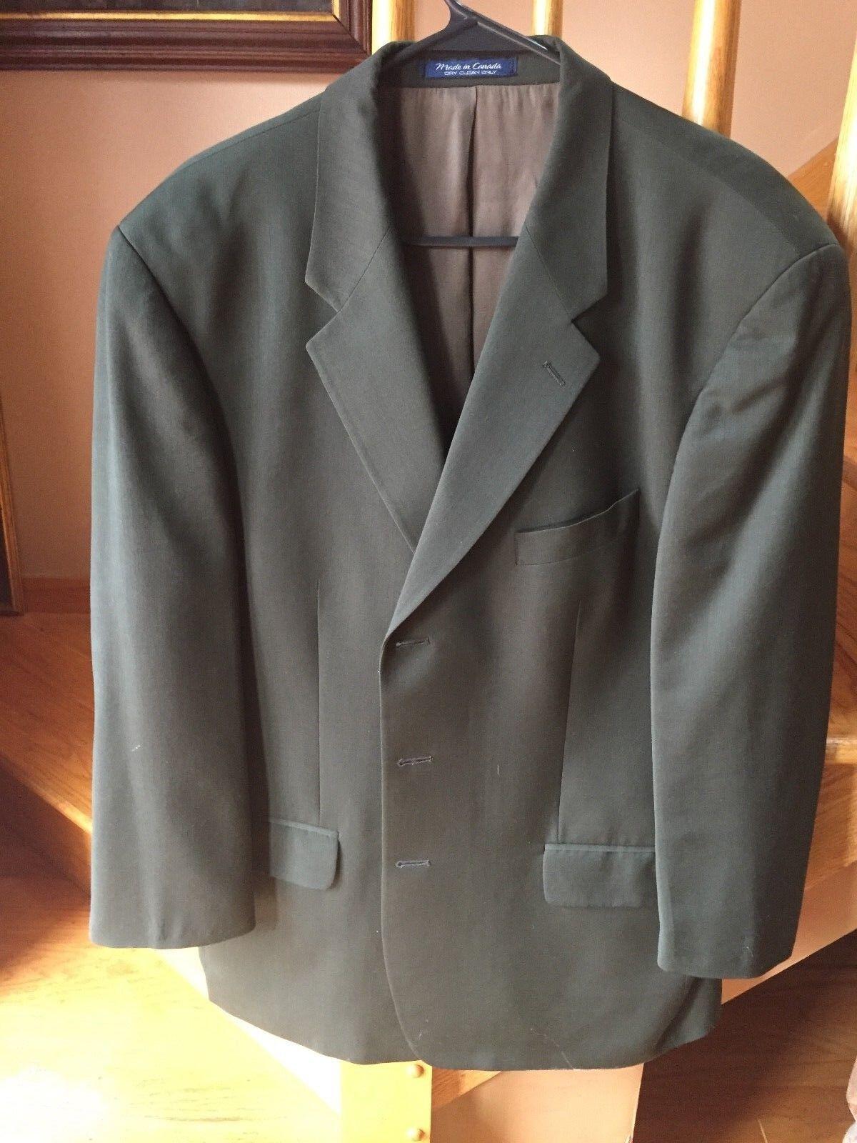 Sanlorenzo Olive Grün  100% Wool 3 Button Lined Blazer Sz 44R