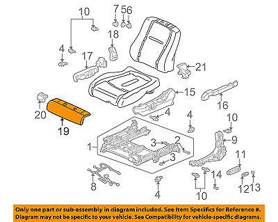 Rear Honda Genuine 82131-S9V-A31ZB Seat Cushion Trim Cover Right