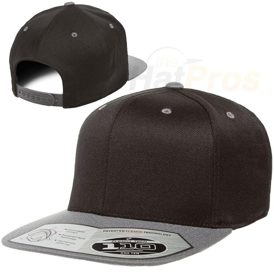 a85f5092049 6195P Flexfit Pinstripe Fitted Baseball Blank Plain Hat Ballcap Cap Flex Fit