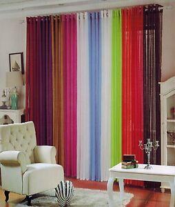 Cortina un visillo,1 pieza 150x260cm,11 color | eBay