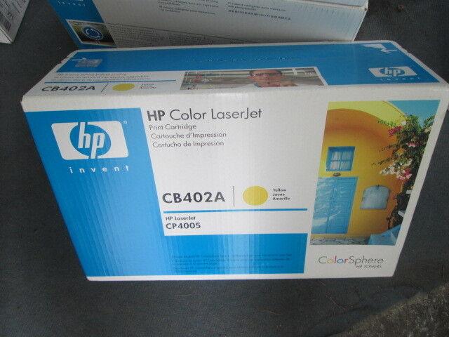 Genuine Hewlett Packard CB402A YELLOW Toner Cartridge 642A for CP4005 Series HP
