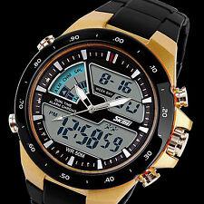SKMEI Men's Waterproof Digital Analog EL Light Military Sport Quartz Wrist Watch