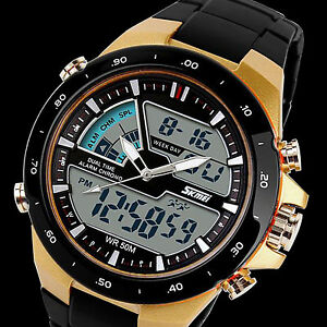 skmei s waterproof digital analog el light