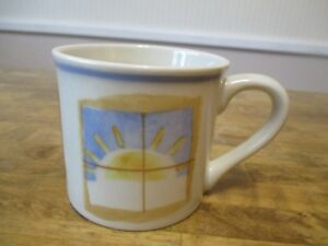 Hartstone-Starbucks-Coffee-Mug-Cup-Barista-Sun-Moon-Stars-Window-Stoneware-USA