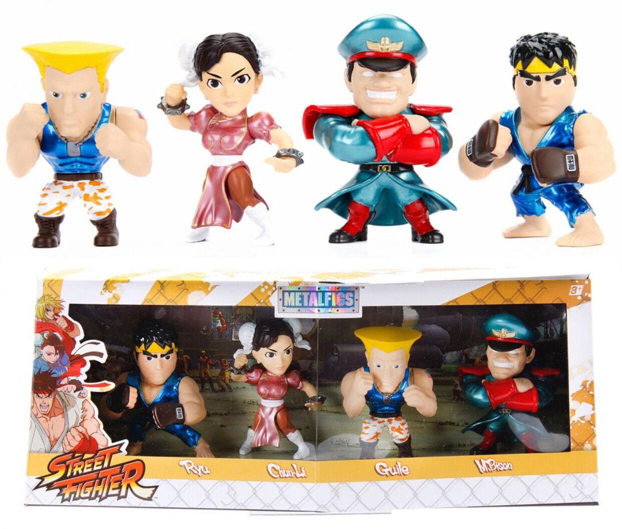 Jada Metals 4  Die Cast Capcom Street Fighter Bundle Set Anime Expo Exclusive LE