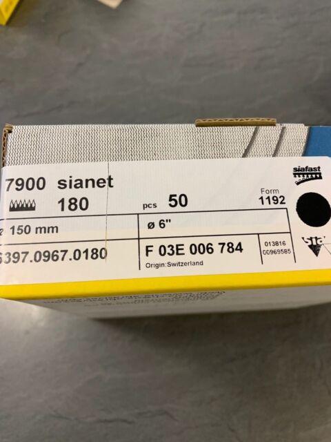 "Box of 50 6/"" Sanding Discs net abrasive discs Sianet 7900 150mm"