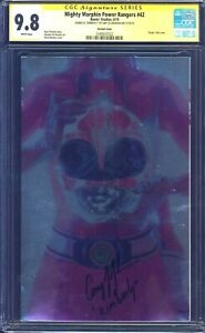 Mighty-Morphin-Power-Rangers-42-PINK-FOIL-CGC-SS-9-8-signed-by-Amy-Jo-Johnson