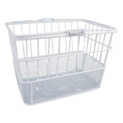 Sunlite Wire Steel Mesh Front Bicycle Basket White Carrier Bike Transport Mount