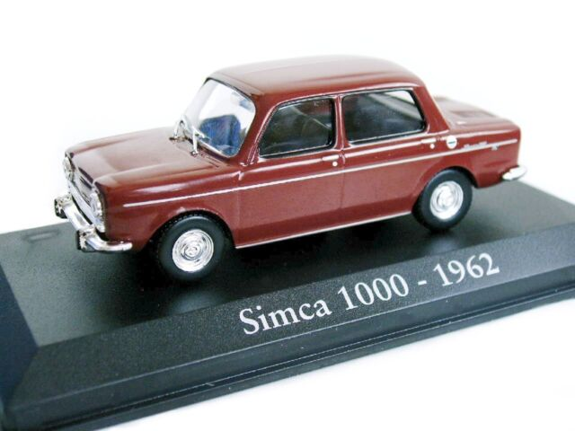 1/43 - IXO - EN BOITE VITRINE - SIMCA 1000 COULEUR BORDEAUX - 1962