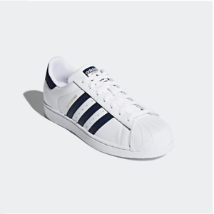 New Adidas Original Womens SUPERSTAR WHITE / NAVY CM8082 UNISEX SIZE TAKSE