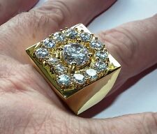 Luxury Elvis crystal aloha horse shoe ring in 18 gold plate a great ring Y - 12