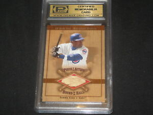 Details About Sammy Sosa Cubs Ud Certified Genuine Authentic Baseball Used Bat Card Slab
