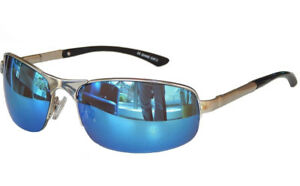 Matrix Sonnenbrille Sportbrille Motorradbrille Bikerbrille Sport Brille M 21 (chrom Grün Blau) SQNMMSw