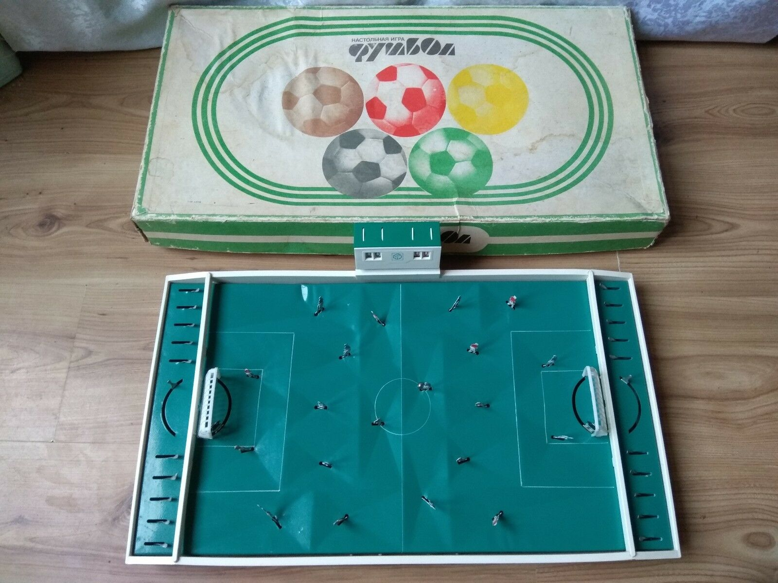 Russia Soviet Vintage Board Game Football SOCCER Original Box USSR toy