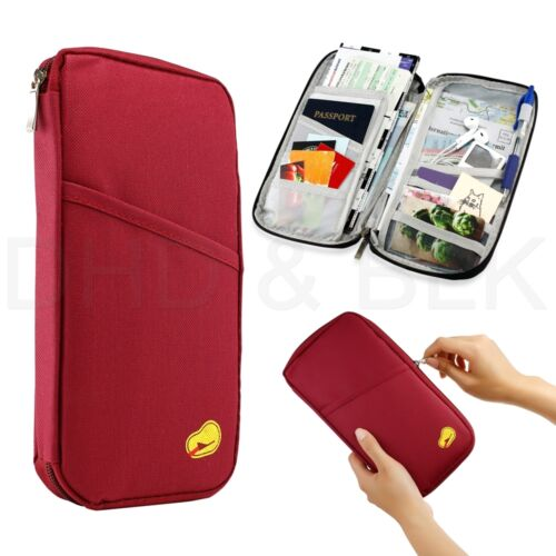 Travel Passport Crédit ID Card Cash Wallet Purse Holder Case Document Sac