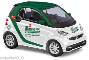 Busch-46218-SMART-FORTWO-2012-034-Wernesgruner-034-h0-auto-modello-1-87
