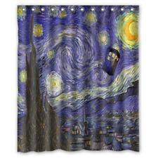 Item 5 New Doctor Who Tardis Starry Night Waterproof Bathroom Shower Curtain 60 X 72