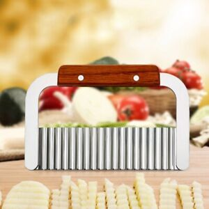 Crinkle Wavy Cutter Stainless Steel Vegetable Potato Chip French Fry Slicer Tool
