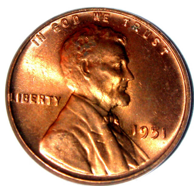 1951 P UNCIRCULATED LINCOLN WHEAT CENT - PLEASE READ