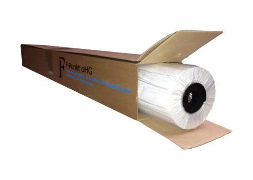 0,35€//m² 50 m l 1270 mm breit Plotterpapier ungestrichen // 1 Rolle // 80 g//m²