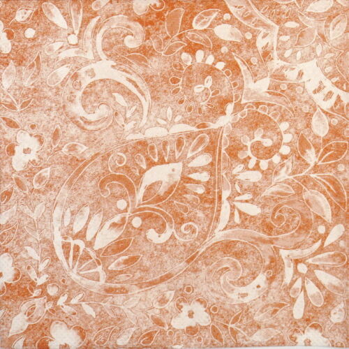 4x Paper Napkins for Decoupage Craft and Party Felicia terracotta
