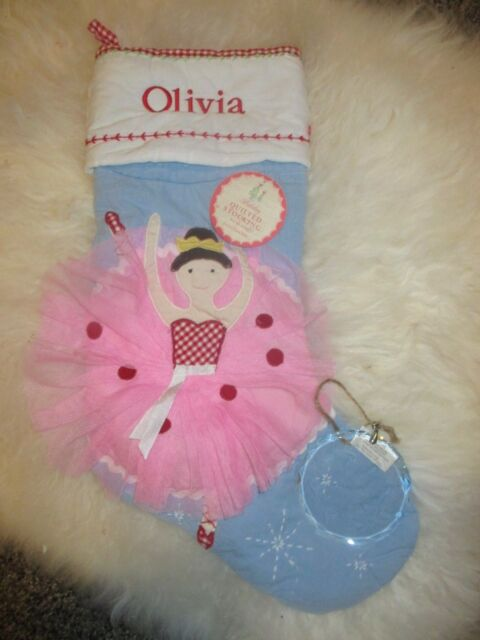 Pottery Barn Kids Blue Quilted Ballerina Christmas