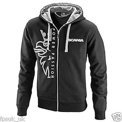 Official Scania Logo Hoodie Mens Men/'s Grey 42 44 46 CHEST L XL XXL New