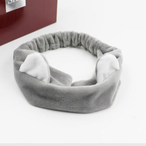 Cute Sweety Cat Ear Soft Towel Hair Band Wrap Headband For Bath Spa Make Up