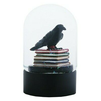 Ytc Quoth The Black Raven Standing On A Stack Of Books Water Globe 804112086590 Ebay