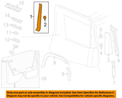 GM OEM Exterior-Front Molding Right 23227753