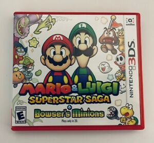 Details About Mario Luigi Superstar Saga Bowser S Minions Nintendo 3ds Complete