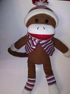 Dan-Dee-Brown-Sock-Monkey-25-034-Plush-Stuffed-Animal